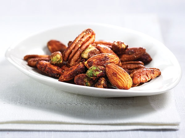 Spicy Maple Nut Mix Recipe with Walnuts, Almonds, Pecans and Pistachios