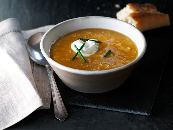 Maple Corn and Butternut Squash Soup