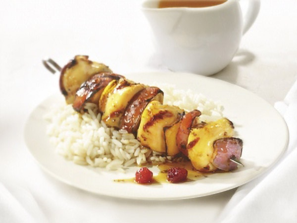 Fruity Chicken Kebabs with Maple Syrup
