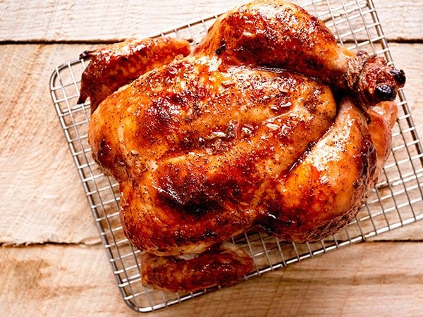 Maple Bourbon Brined Roasted Chicken