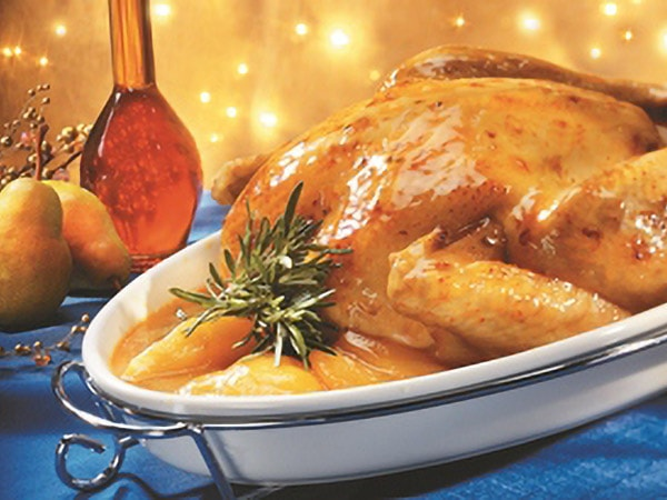 Turkey with Pear and Maple Glaze