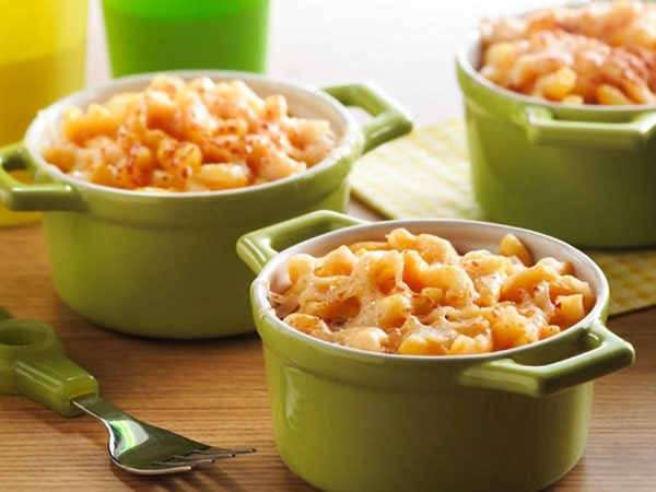 Steamed Macaroni and Cheese with Maple Butternut Squash
