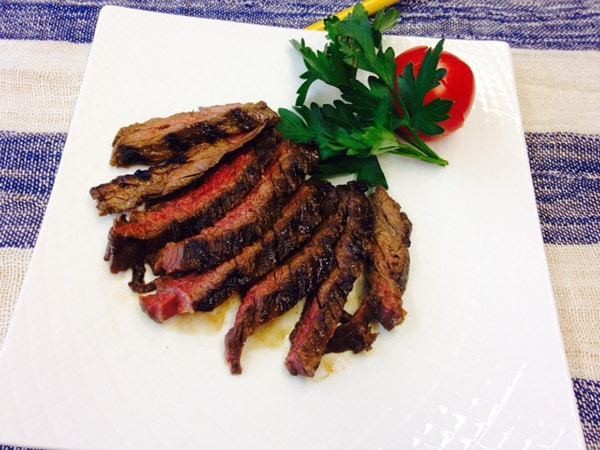 Japanese-Style Skirt Steak in Maple Teriyaki Marinade