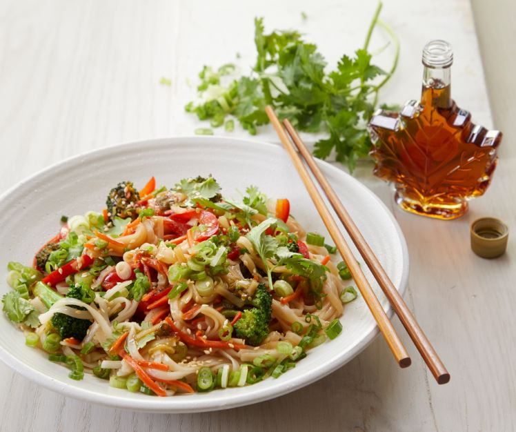 Saucy Rice Noodles & Vegetables