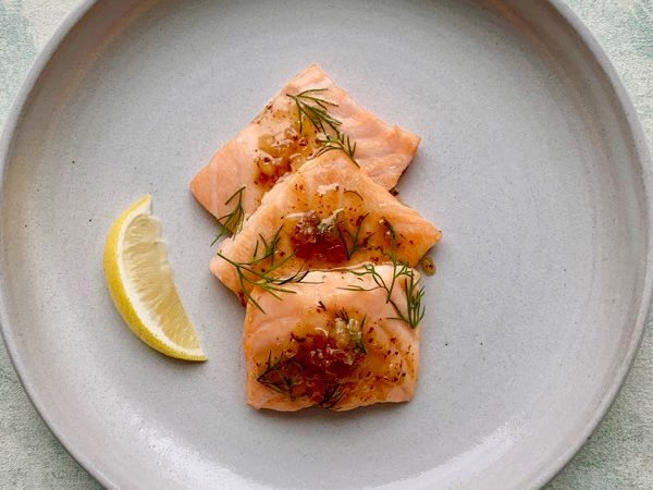 roasted salmon with real maple syrup