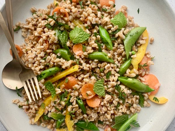 farro salad with maple syrup