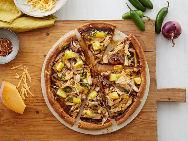 Maple Barbecue Chicken and Pineapple Pizza