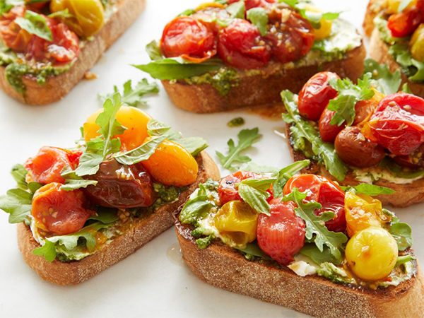 Oven Roasted Maple Balsamic Tomato Toast