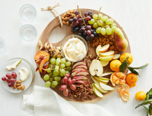 Fresh Fruit and Nut Dessert Board with Maple Dip