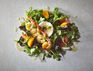 Warm Shrimp Salad with Maple-Grapefruit Vinaigrette