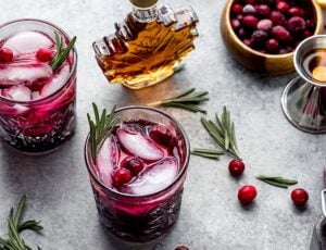 Maple Cranberry Bourbon Smash