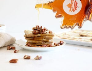 Apple Maple Pecan Sheet Pan Pancakes