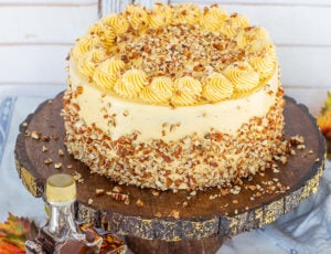 Maple Pecan Cake With Maple Frosting