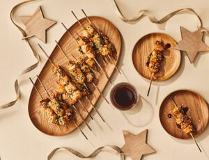 Maple-Teriyaki Turkey Brochettes