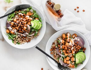 Maple Chili Chickpea Grain Bowls