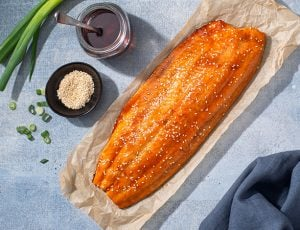 Maple Soy Baked Salmon